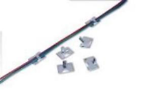 Peco PL-37L Cable Clips - self-adhesive large for Locos, Layouts