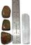 thumbnail 2 - Unakite Polished Tumbled Stones 3 Piece Set and Bonus Selenite Crystal # 2
