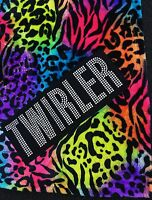 Baton Twirler Plush Animal Print Blanket Rainbow Colored 50 X 60 Throw Soft