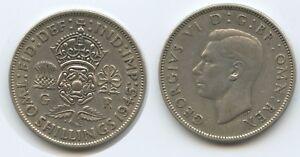 G2159-Grossbritannien-One-Florin-1945-KM-855-Silber-George-VI-Great-Britain