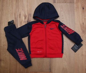 30e7a9c12 Nike Baby Boy 2 Piece Jogging Set ~ Navy Blue   Red ~ Tracksuit ...