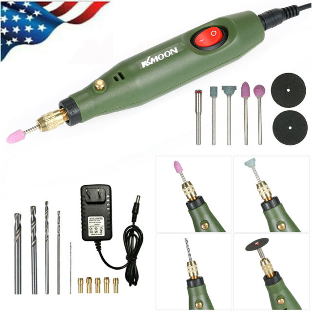 QWERTOUY AC220V//DC12V Mini Drill Electric Grinder Rotary Tool Kit for Grinding Polishing for Porcelain Stone Nuclear Jade