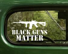 2 BLACK GUNS MATTER DECALs Sticker AR15 Second Amendment Car Truck Laptop