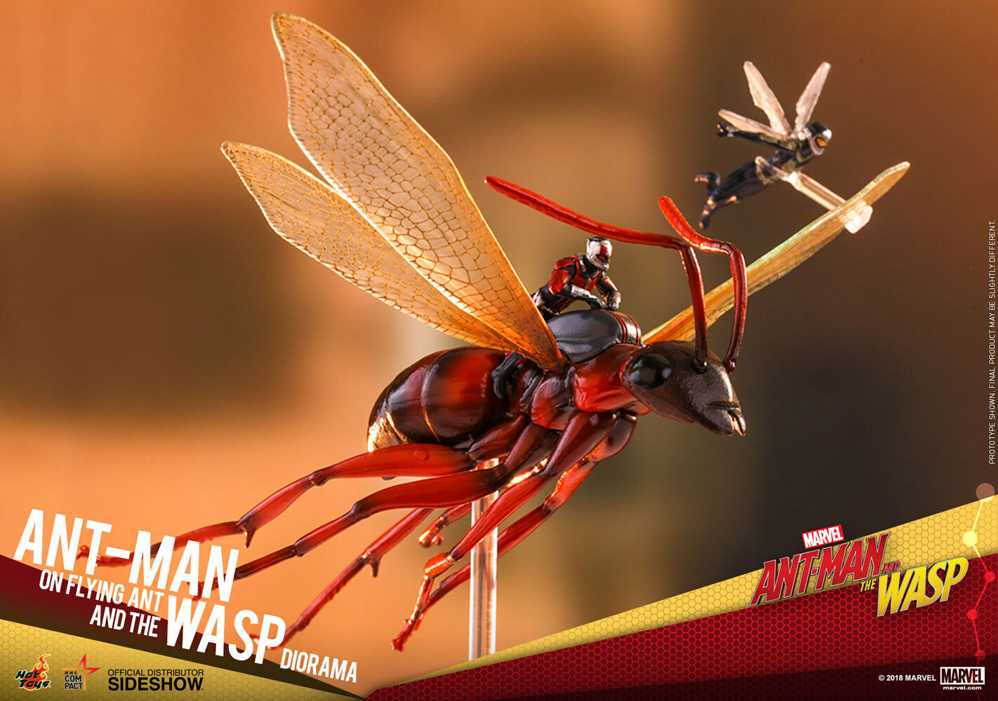 Ant-Man on Flying Ant & the Wasp MMS Diorama Acción Figuras Hot Juguetes Sideshow