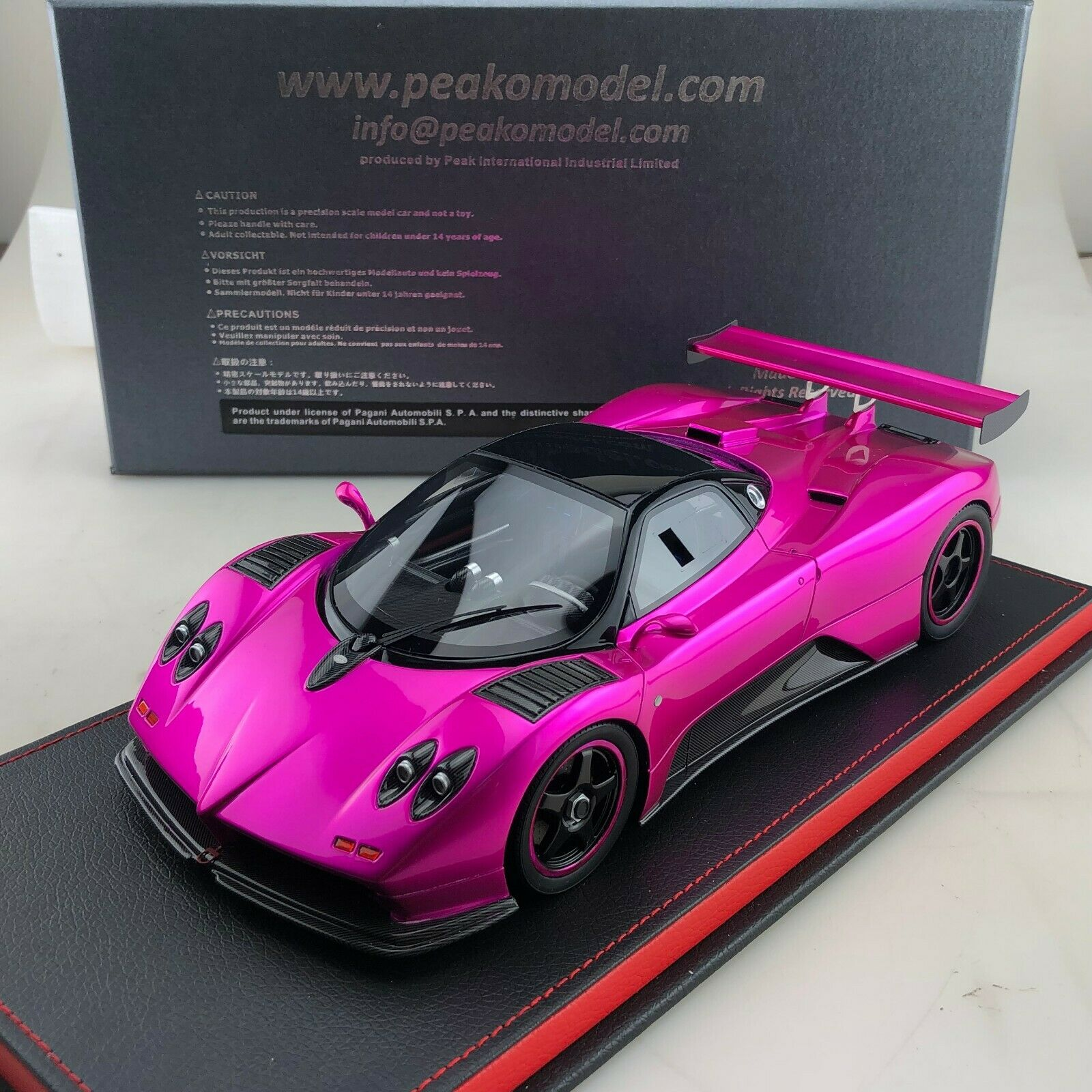 1 18 Peako Pagani Zonda C12 Monza Flash rose limited 30 pcs