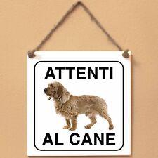 Basset Fauve de Bretagne 1 Attenti al cane Targa piastrella cartello ceramic