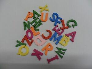 Lettere Di Legno Colorate : 26 piccole lettere alfabeto colorate in legno altezza 2 5 cm con