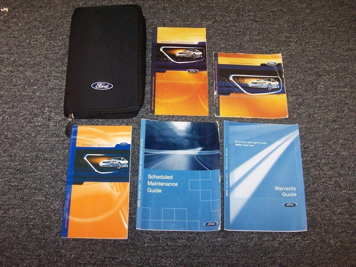 2002 Ford Mustang Owner Owner's Operator Manual Set GT Premium 3.8L 4.6L V6 V8