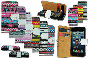 NEW-AZTEC-RETRO-VINTAGE-CARD-WALLET-FLIP-CASE-COVER-FOR-APPLE-I-PHONE-4-4G-4S