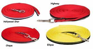 Weiche Softlonge mit Karabiner (8 Meter) Serie: Rot - Gelb