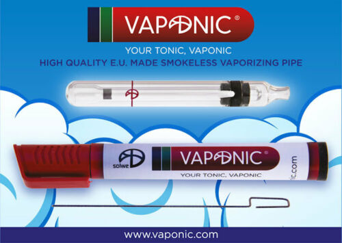 Vaporizzatore Portatile VAPONIC Vaporizer Vaporizzatore in Vetro con Custodia