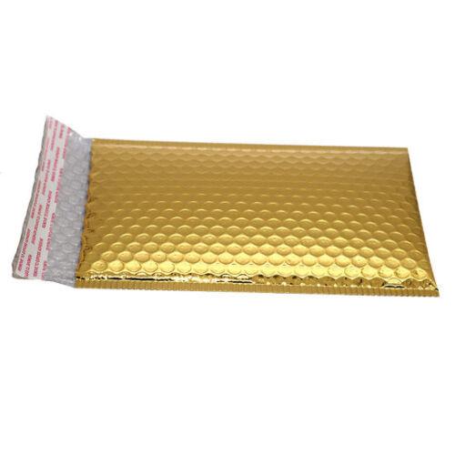 10 X Brillant Métallisé brillant feuille d/'or bulles rembourré enveloppes sacs 180x250mm D//1