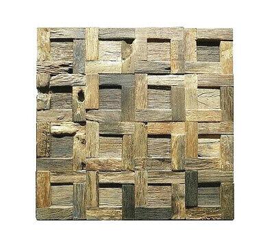 Wood Wall Decor Wood Wall Tile Reclaimed Wood Tile Mosaic Tiles Rustic Tiles