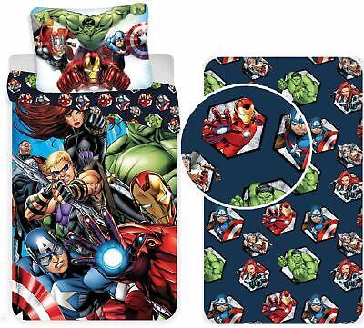 Copripiumino Singolo Avengers.Avengers Set Letto Singolo Copripiumino Federa Lenzuola Cangoli