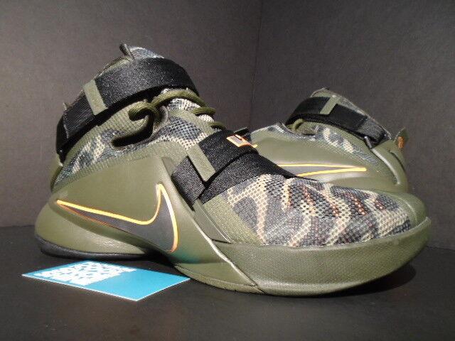 Nike lebron sequoia soldato ix 9 premio mimetico carico cachi sequoia lebron arancione 749490-303 10 a5e561