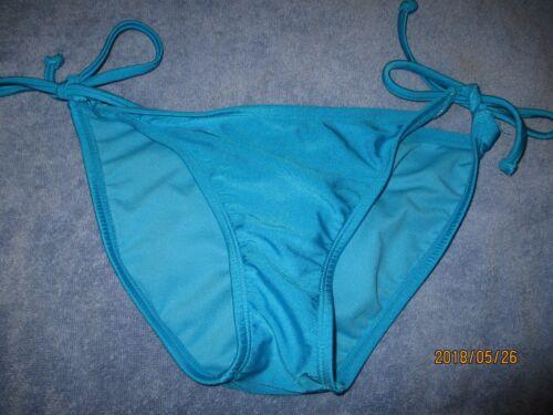 XHILARATION String  Bikini  Bottoms Size S  NWOT  Shiny Blue REDUCED!!!