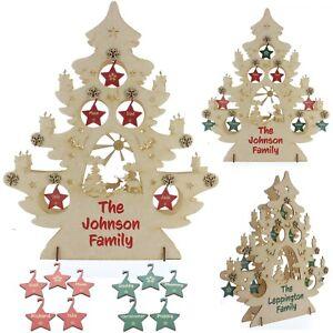 Personalizzata-Family-Tree-Decorazione-Di-Natale-3D-IN-LEGNO-MDF-non-associate-rustico