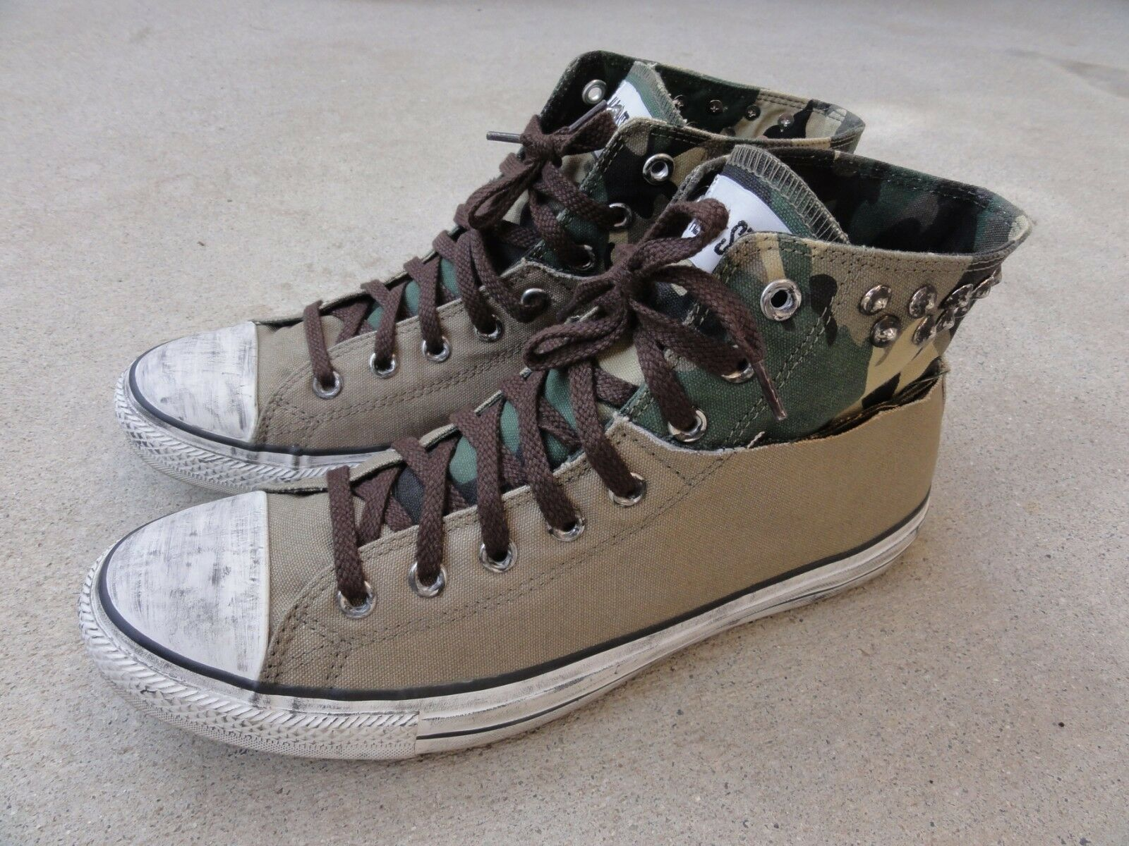 Converse All Star Chuck Taylor Camo Olive Size US 11 Men shoes Canvas Distressed