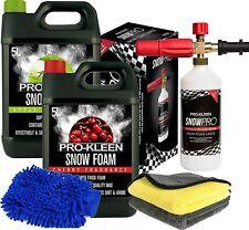 Pro-Kleen Snow Foam Car Shampoo Wash Wax 10L Karcher Lance Cleaning Cloths Glove