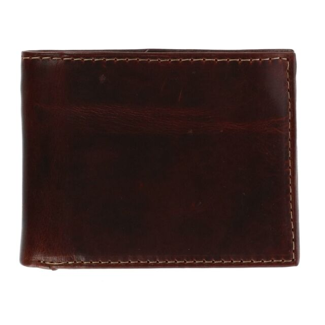 New CTM Men/'s Oil Pull Up Leather Card Case Wallet