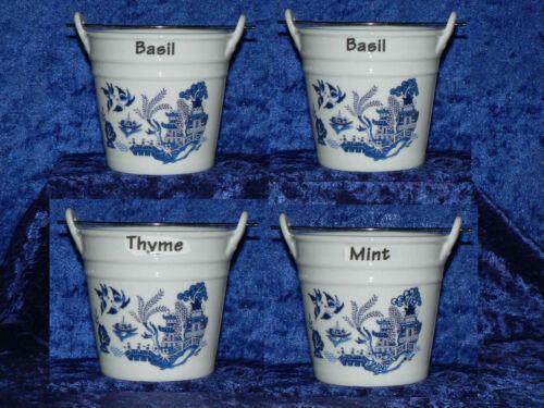 Blue Willow-Pot à herbes différentes à choisir Blue Willow Design Pot à herbes