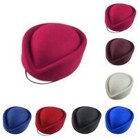 Wool Stewardess Air Hostesses Pillbox Hat Millinery TearDrop Fascinator Newest