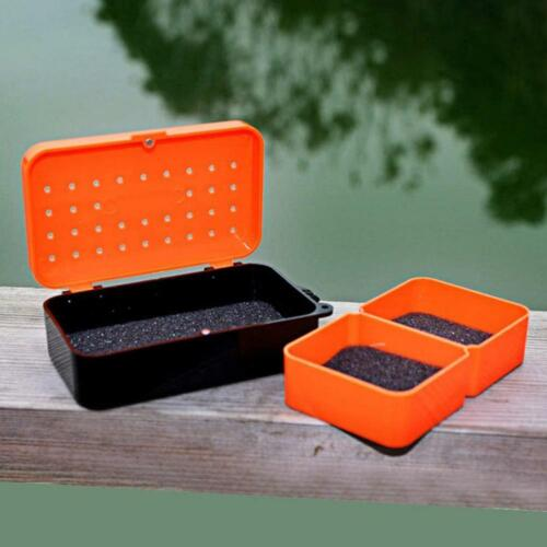 2 Compartments Fishing Baits Earthworm Worm Lure Tackle Box Storage Case 2020