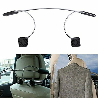 Auto Car Seat Headrest Clothes Coat Jacket Suit Stainless Metal Hanger Holder MD