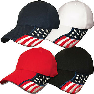 Rockpoint-Freedom-Stretch-Fit-Cap-Performance-Fitted-Flag-Hat-Red-White-Blue