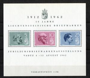 Liechtenstein-Block-6-sauber-postfrisch-415-416-Vaduz-1962-MNH