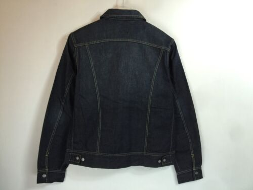 NWT LEE Men/'s Riders Trucker Denim Jean Jacket Regular Fit Dark Wash Sizes L XL