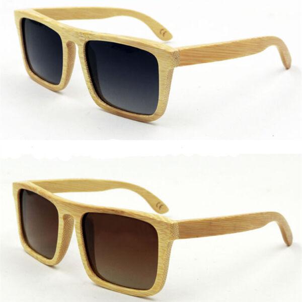 56671fdfb92 Handmade Polarized Unisex Bamboo Sunglasses Wooden Eyewear Glasses Wood  Case Box. Hover to zoom