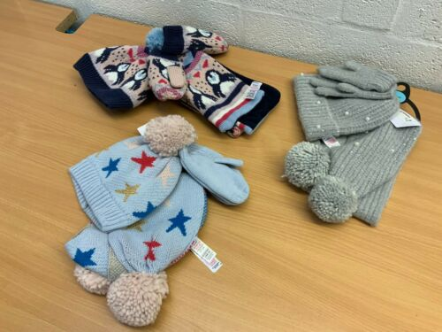 M/&S CHILD/'S HAT SCARF AND MITTENS SET 3-6 YEARS NEW RRP £16//18