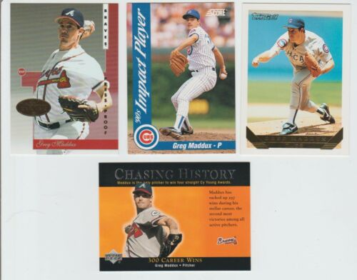 Greg Maddux 1996 LEAF SIGNATURES GOLD INSERT CARD & OTHERS