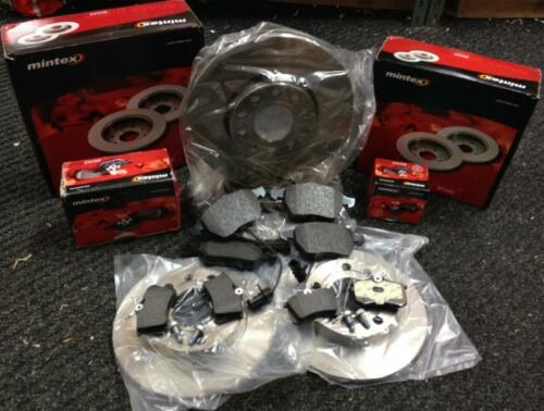 AUDI A4 2.0TDI S LINE B7 140BHP MINTEX FRONT REAR BRAKE DISCS AND BRAKE PADS NEW
