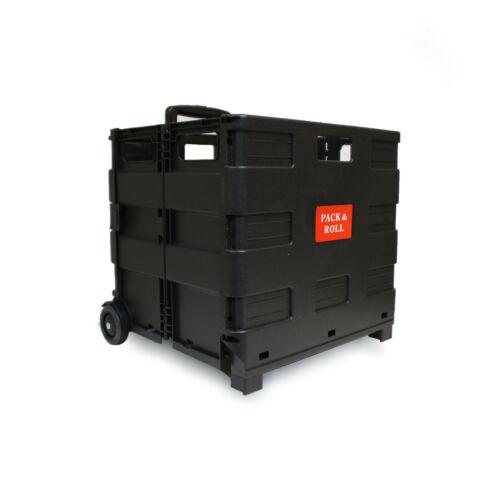 Einkaufstrolley Einkaufswagen Trolley Korb mit Rollen klappbar 35kg