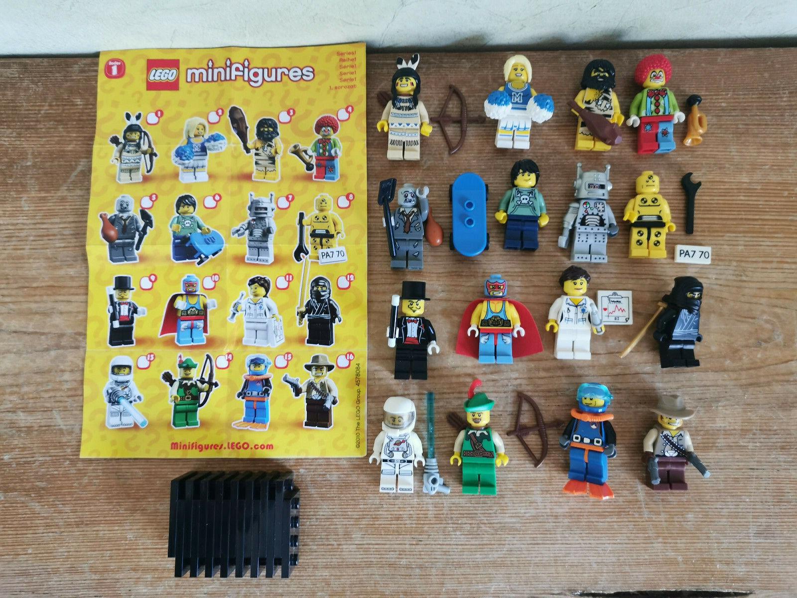 LEGO MINIFIGUREN Serie 1 KOMPLETTSATZ - 16 St.