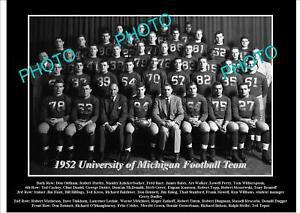 OLD-LARGE-HISTORIC-PHOTO-OF-UNIVERSITY-OF-MICHIGAN-FOOTBALL-TEAM-1952