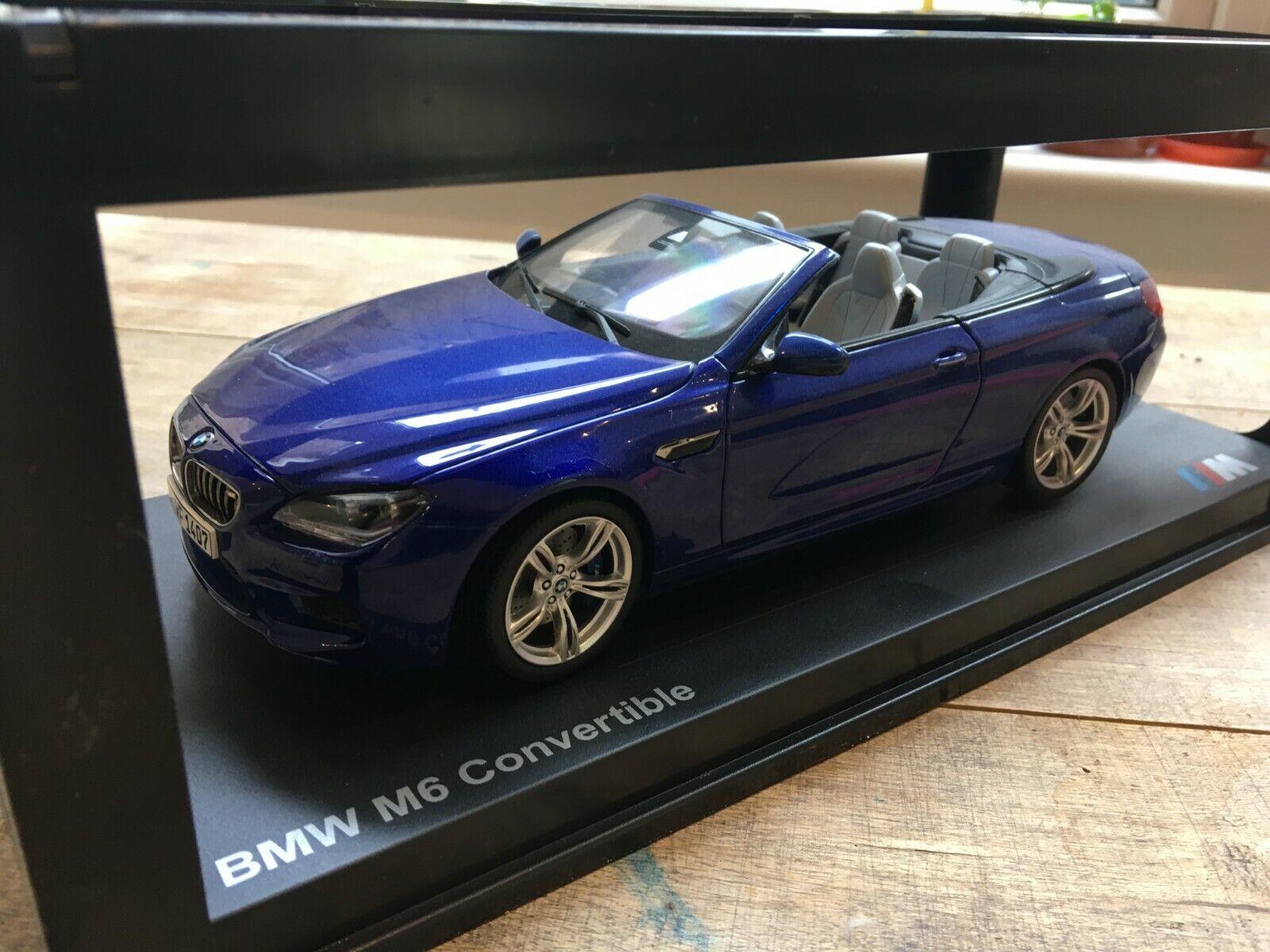 Paragon modèle de voiture 2012 BMW M6 cabriolet échelle -1 18 - San Marino Bleu Métallisé