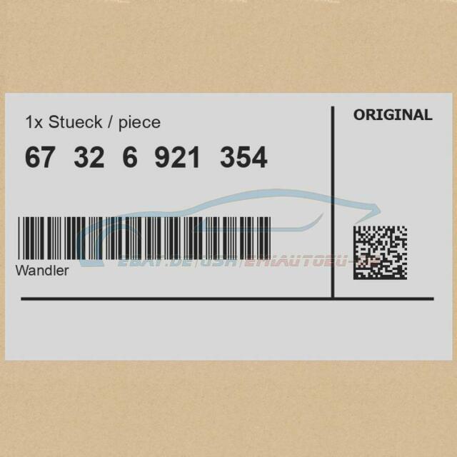 Original BMW 67326921354 - Wandler 5er