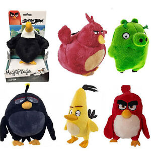 Official Angry Birds Plush 15cm Large Keychain Teddy Softtoy Chuck