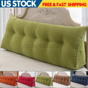 """47"""" Bed Backrest Pillow Reading Support Triangular Wedge HeadboardBed"""