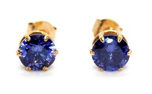 9kt-Yellow-Gold-0-28ct-0-75ct-1-31ct-Tanzanite-Stud-Earrings
