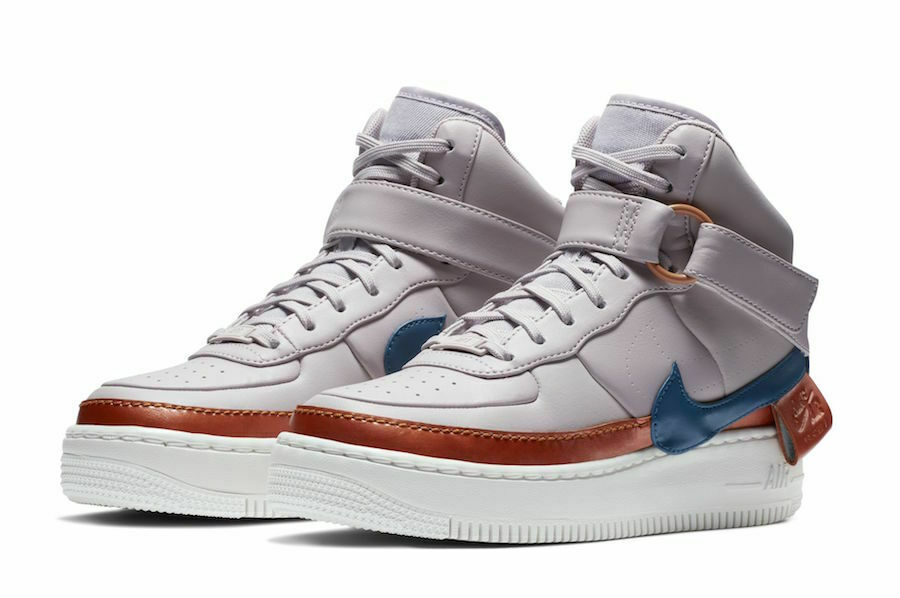 Nike WOMEN'S AF1 Jester Hi High XX purple Ash bluee Force SIZE 8 BRAND NEW