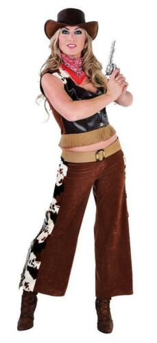 COW GIRL COSTUME ABITO Wilder Occidente Saloon da Donna Cowgirl Costume Cowboy LADY