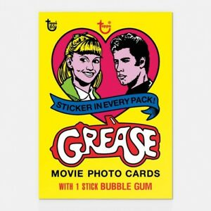 GREASE-TOPPS-80TH-ANNIVERSARY-WRAPPER-ART-CARD-43-Topps-Grease-Musical