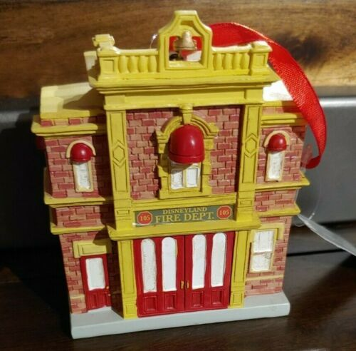 NEW Disneyland Fire Dept 105 Holiday Ornament Main Street