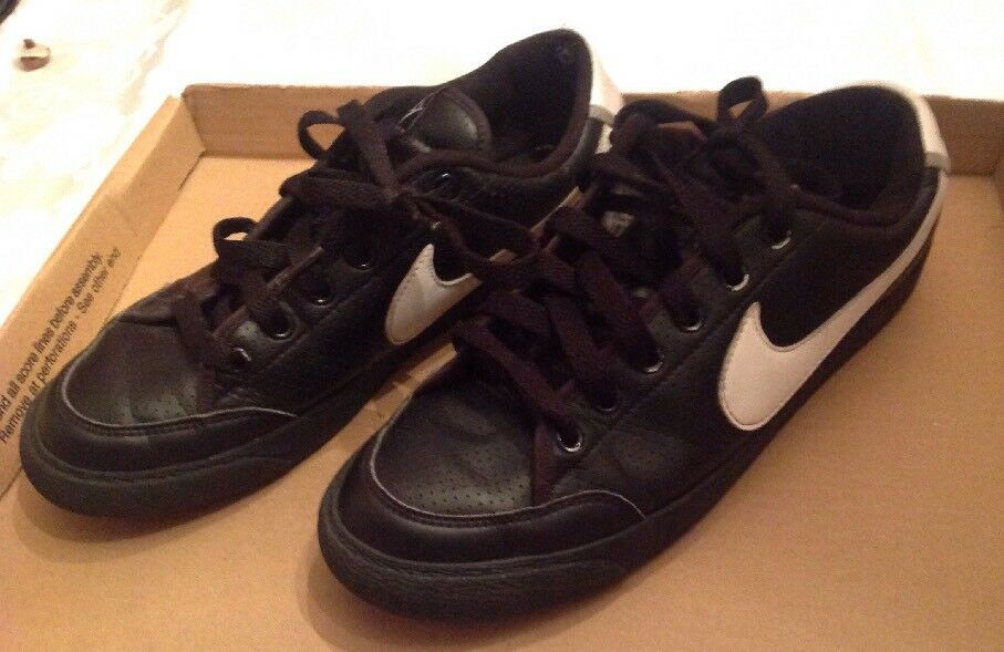 2009 Nike Court Low Black / White Shoes 344143-011 Comfortable