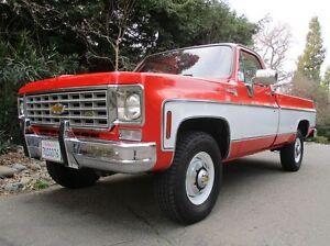 1975-Chevrolet-C-K-Pickup-2500-NO-RESERVE-K20-4WD-PS-PB-AC-Tach-Original-Paint