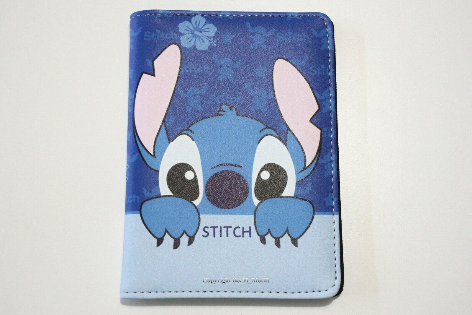Wallet Lilo and Stitch Disney Travel Cards Passport Holder Blue